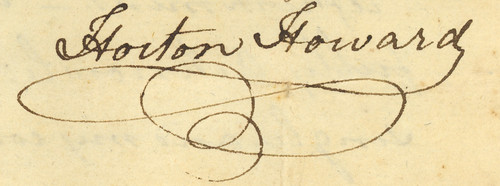 Signature of Horton Howard, 1799