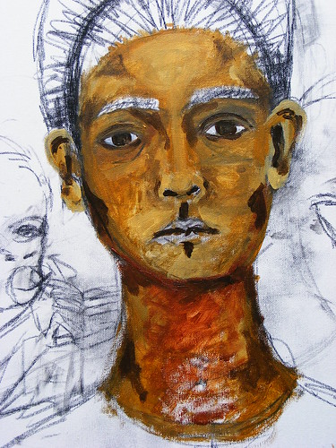 Frida Kahlo Self-Portrait 1940 Study WIP #2