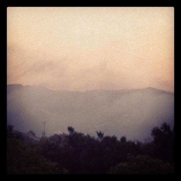 Evening fog rolling in