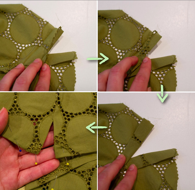 green eyelet tunic tutorial by skirt as top