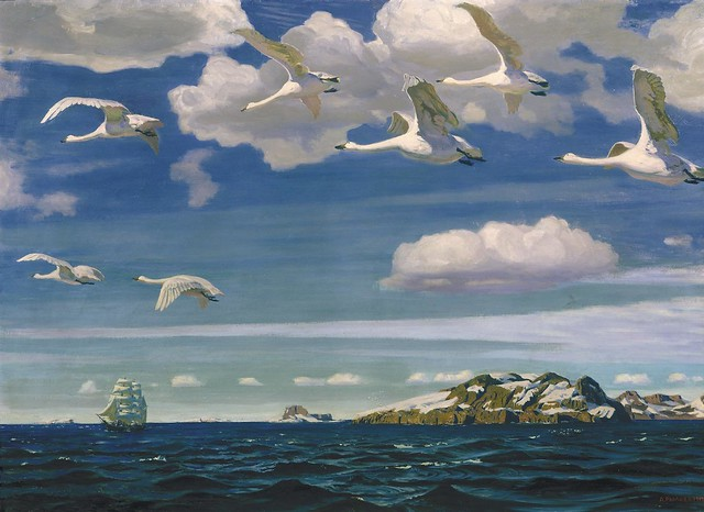 Arkady Rylov, In the Blue Expanse, 1918.