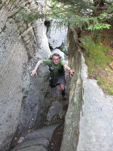 Gary in a chimney on Twin