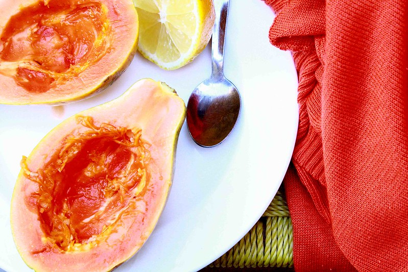 Papaya and lemon