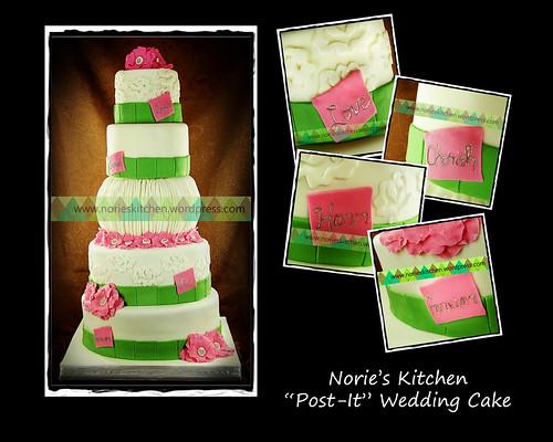 Norie's Kitchen - Post it Wedding Cake by Norie's Kitchen