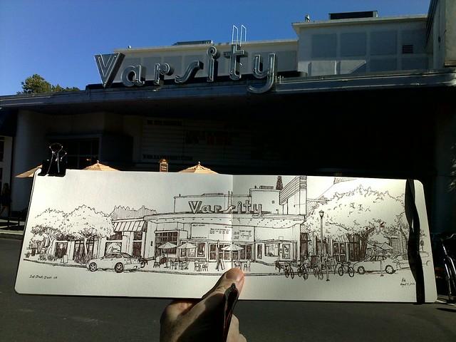 sketching 2nd street