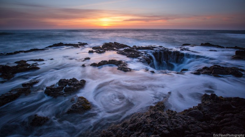 Sunset at Cape Perpetua