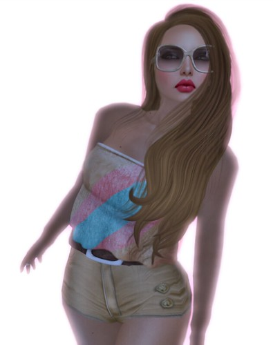 Last Shot - vintage - di's opera pose - auxiliary top - izzies skin-glasses