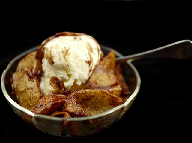 ice cream with apple pie filling