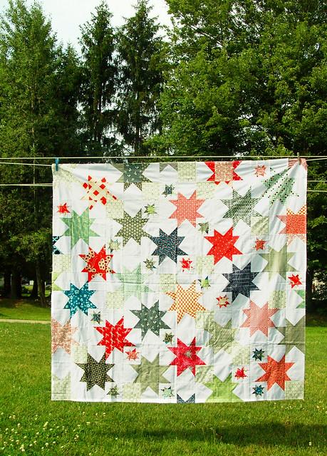 stargazing quilt top