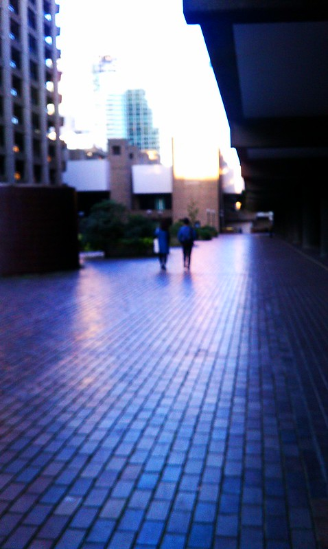 Sunset at The Barbican Centre, London