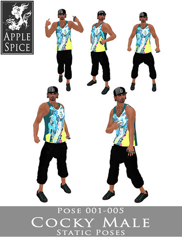 Apple Spice - Cocky Male Poses 001-005 Fatpack