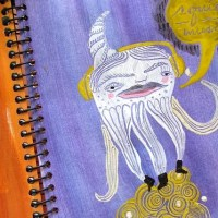 Art journal techniques : : sgraffito with acrylics