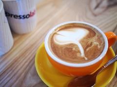 flat white. espressolab Singapore, Bali Lane