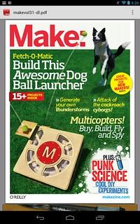 MAKE Magazine as viewed on the Nexus 7