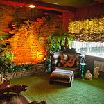 Jungle Room in Graceland mansion
