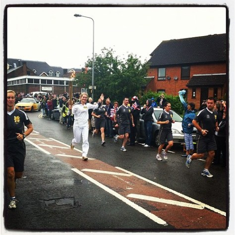 Olympic Flame earlier today