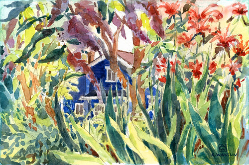 Garden & Blue House 1