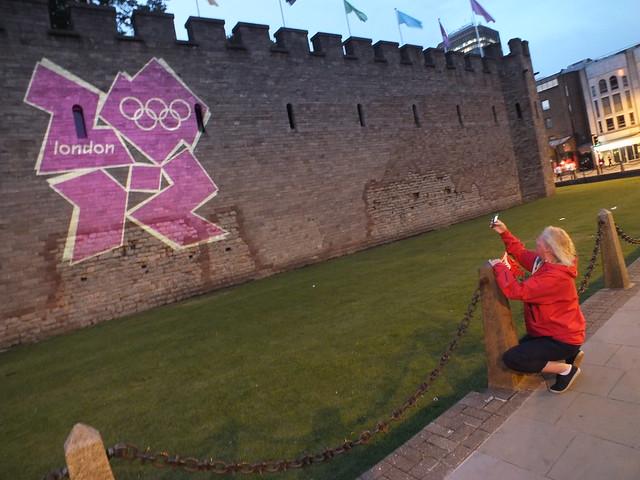 Cardiff Castle illuminated for Olympics 2012