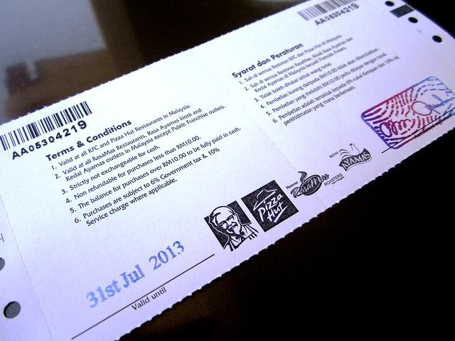 Astro food voucher 2