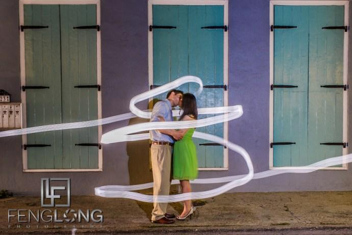 Light Painting | Amy & Michael's Engagement Session | French Quarter & New Orleans City Park | New Orleans Destination Wedding Photographer