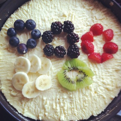 Olympic Ring Cheesecake