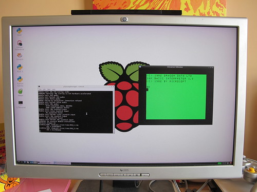 XRoar Dragon emulator running on Raspberry Pi