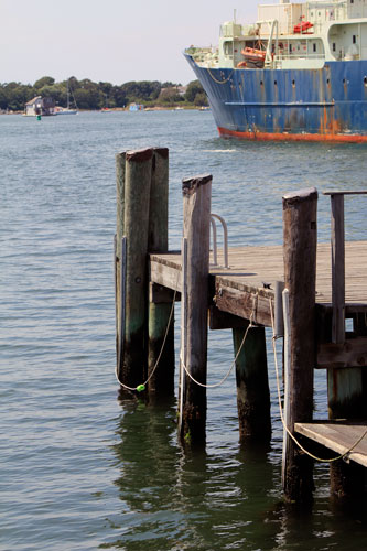 dock and ship