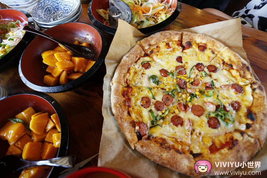 Pizza in The Sky,沖繩,沖繩美食,沖繩美麗海水族館,沖繩自駕,花人逢 @VIVIYU小世界