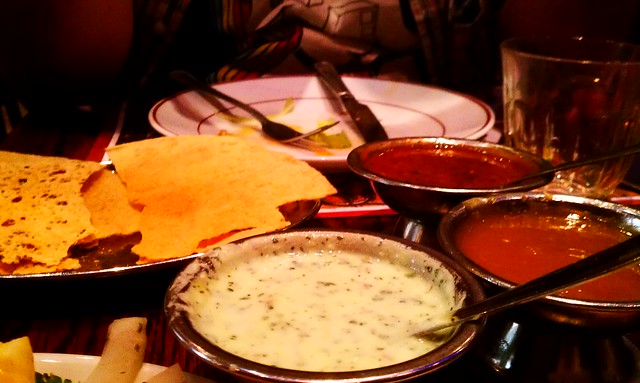 Amazing Punjabi Indian appetizers at Tayyab's in Whitechapel, London