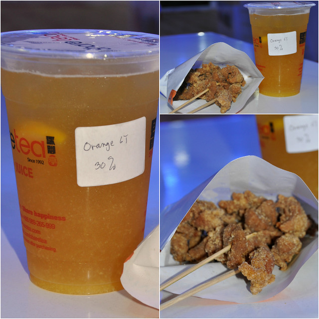 Taiwanese Fried Chicken and Orange Green Tea
