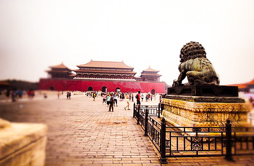Inside the Forbidden City on a Smoggy Day
