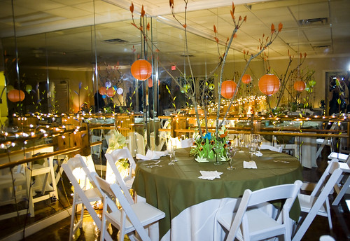 the reception room,lovingly decorated