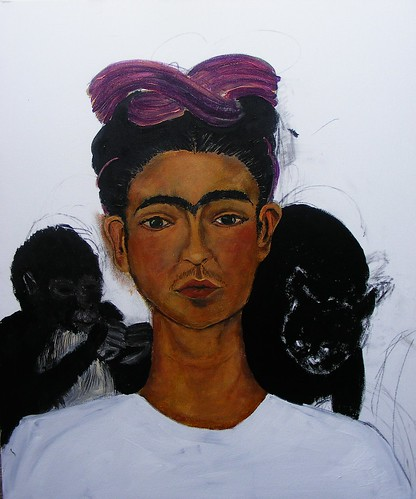 Frida Kahlo Self-Portrait 1940 Study WIP #6