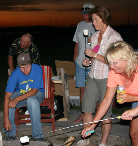Even the adults enjoy making smores