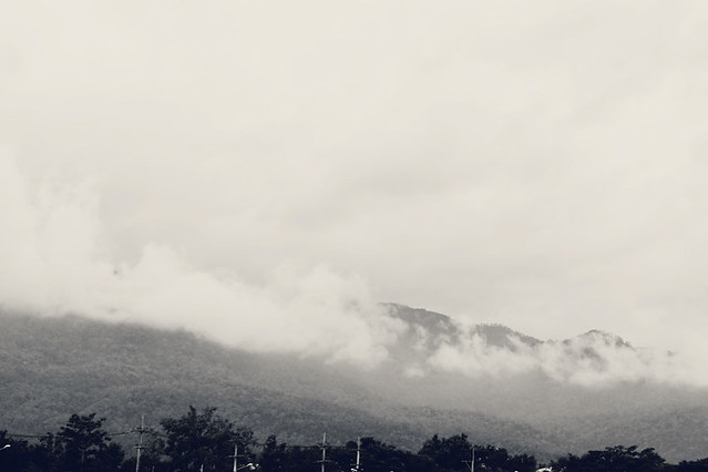 Enjoying misty moutain views of Doi Suthep, and stormy afternoons