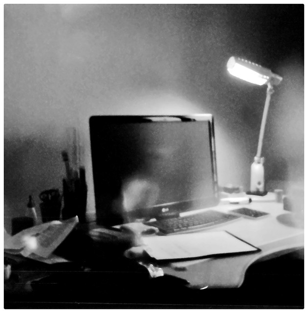 """Desk"" - Kodak Petite + Fujifilm instax mini film"