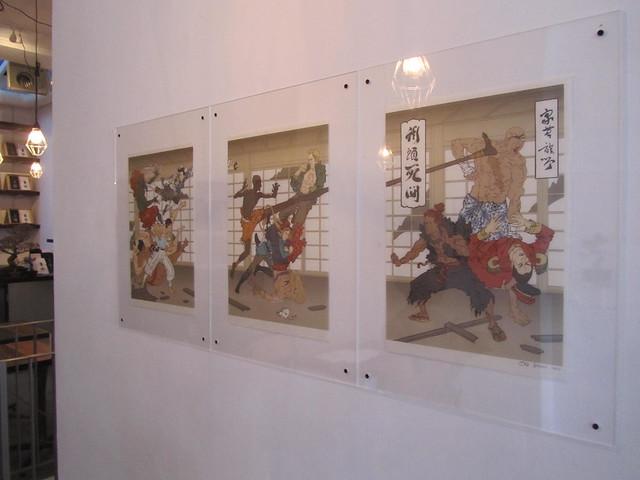 'ukiyo-e pop - ukiyo-e & contemporary japonism' at the ICN gallery