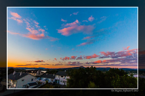 Sunset at Sotra outside Bergen by Tor Magnus Anfinsen