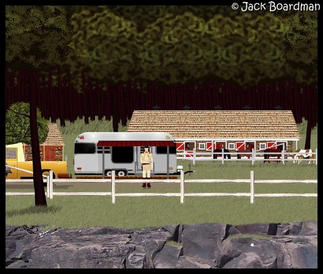 Marshal Blackmon's new ranch buildings ©2012 Jack Boardman