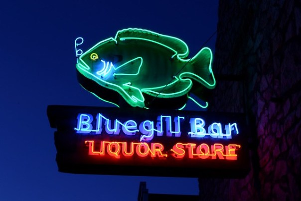 Bluegill Bar Liquor Store - 109 South Main Street, Birchwood, Wisconsin U.S.A. - July 29, 2012