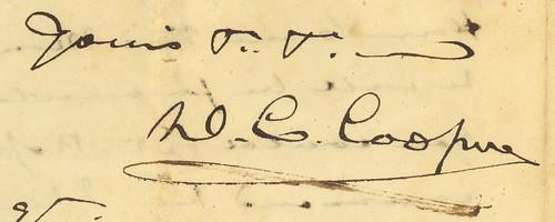 Daniel C. Cooper's signature, 1816