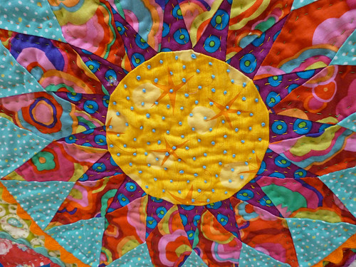 colourful kaleidoscope french knots