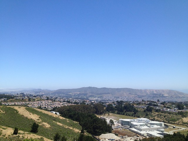 San Bruno Mountain from Sweeney Ridge Trail