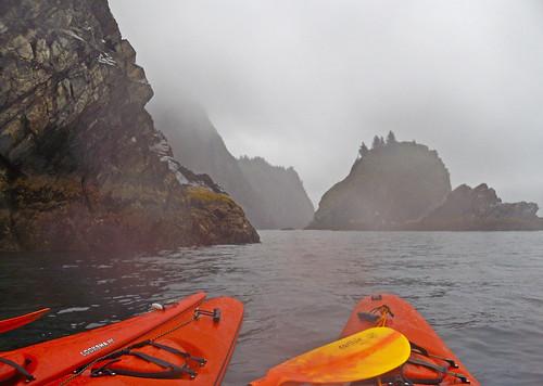paddling around Fox Island