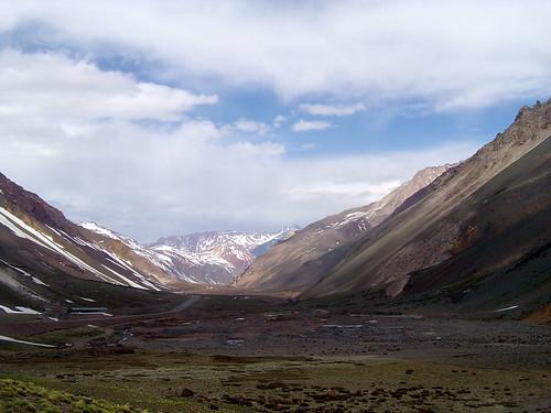 Glacial Valley, Andes, Argentina