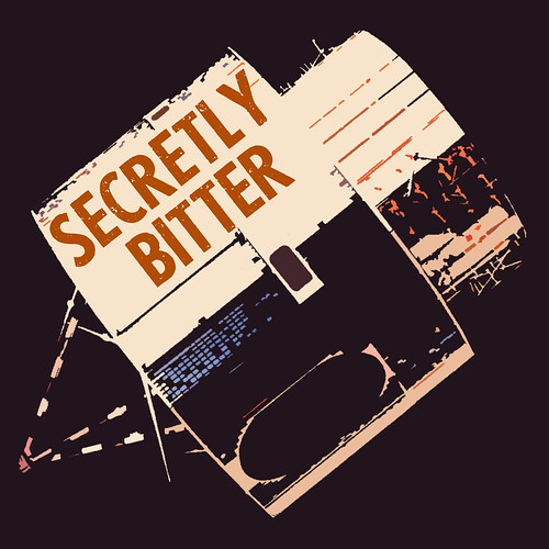 Secretly Bitter Satellite Logo by beardcultbrian