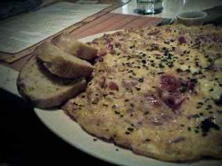 revueltos, an egg and chorizo omelet at Canela