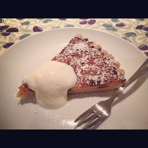 Ricotta and Sultana Tart