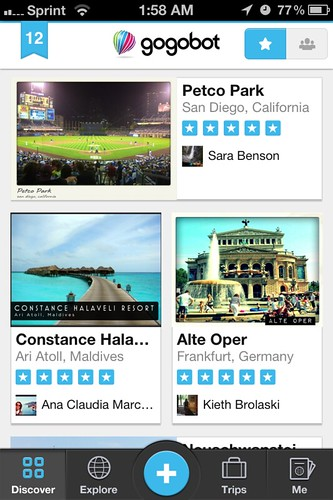 iphone travel app gogobot