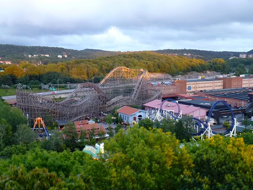 View from the ferris wheel at Liseberg
